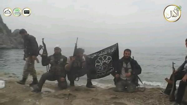 Ahrar a-Sham push into Qastal Maafa and reach the Mediterranean shore (March 25, 2014)