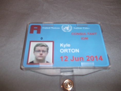 I really don't take a good picture: My U.N. identification card