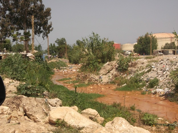 Stream of human waste around Zahrani ITS