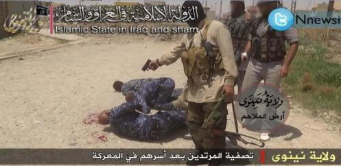 ISIS murdering Iiraq Security Forces after breaking open a prison in Mosul