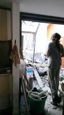 Rocket damage doesn't only happen in Gaza: Home demolished in Eshkol Regional Council, southern Israel
