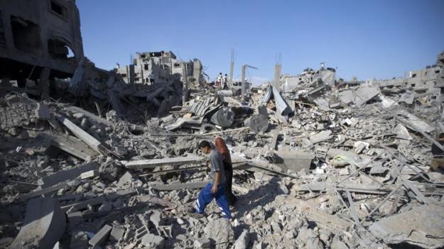 Aftermath of the fighting in Shejaiya, Gaza, July 20, 2014 (2)