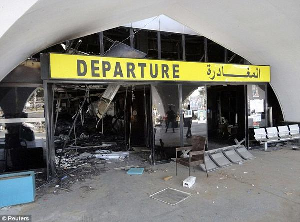Devastated International Airport in Tripoli, Aug. 23, 2014