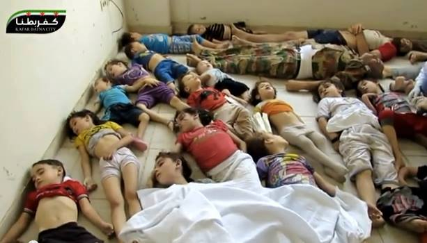 Some of the children killed by the Assad regime's CW attack on Aug. 21, 2013