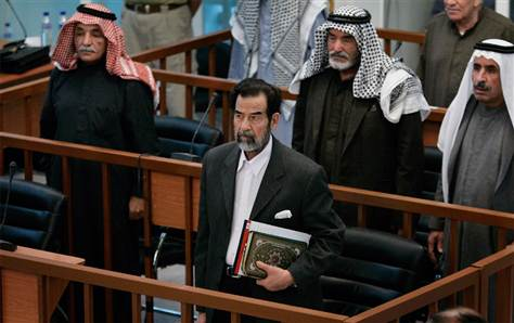 Throughout his entire trial, Saddam Hussein was never without a Qur'an