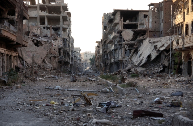 Devastation in Deir Ezzor, June 2013