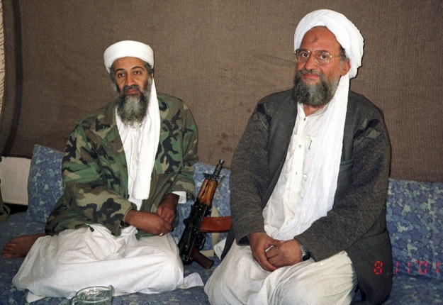 Osama bin Laden (L) and Ayman az-Zawahiri (R)