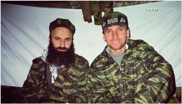 Shamil Basayev and Murad Margoshvili (a.k.a. Muslem al-Shishani)