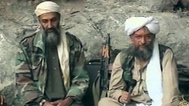 Osama bin Laden and Ayman az-Zawahiri (2001)