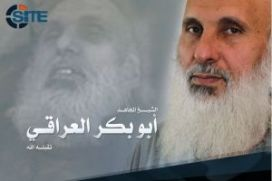 ISIS's eulogy picture of Haji Bakr