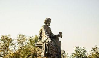 Abu Nuwas statue in Baghdad