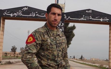 Polat Can, 2014, head of the YPG's information centre (source)