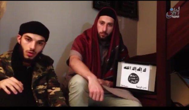 Normandy church killers, Adel Kermiche and Abdelmalik Petitjean, swear allegiance to the Islamic State [video, 27 July 2016]